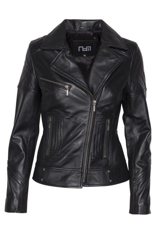 497 biker jack zwart dames