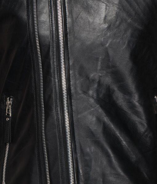 RBM-heren motor jas zwart knight