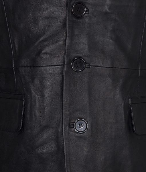 Leren blazer- rbm 448-zwart