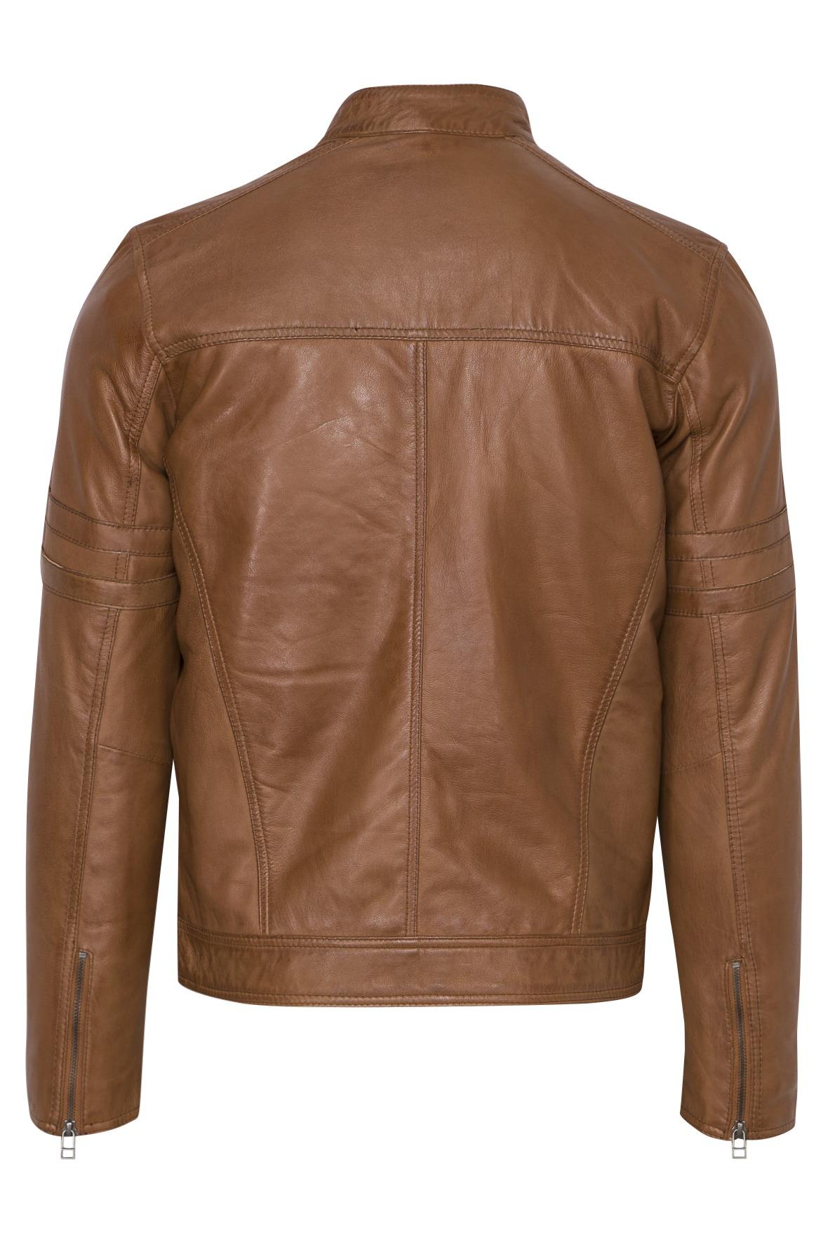 559 biker jack cognac
