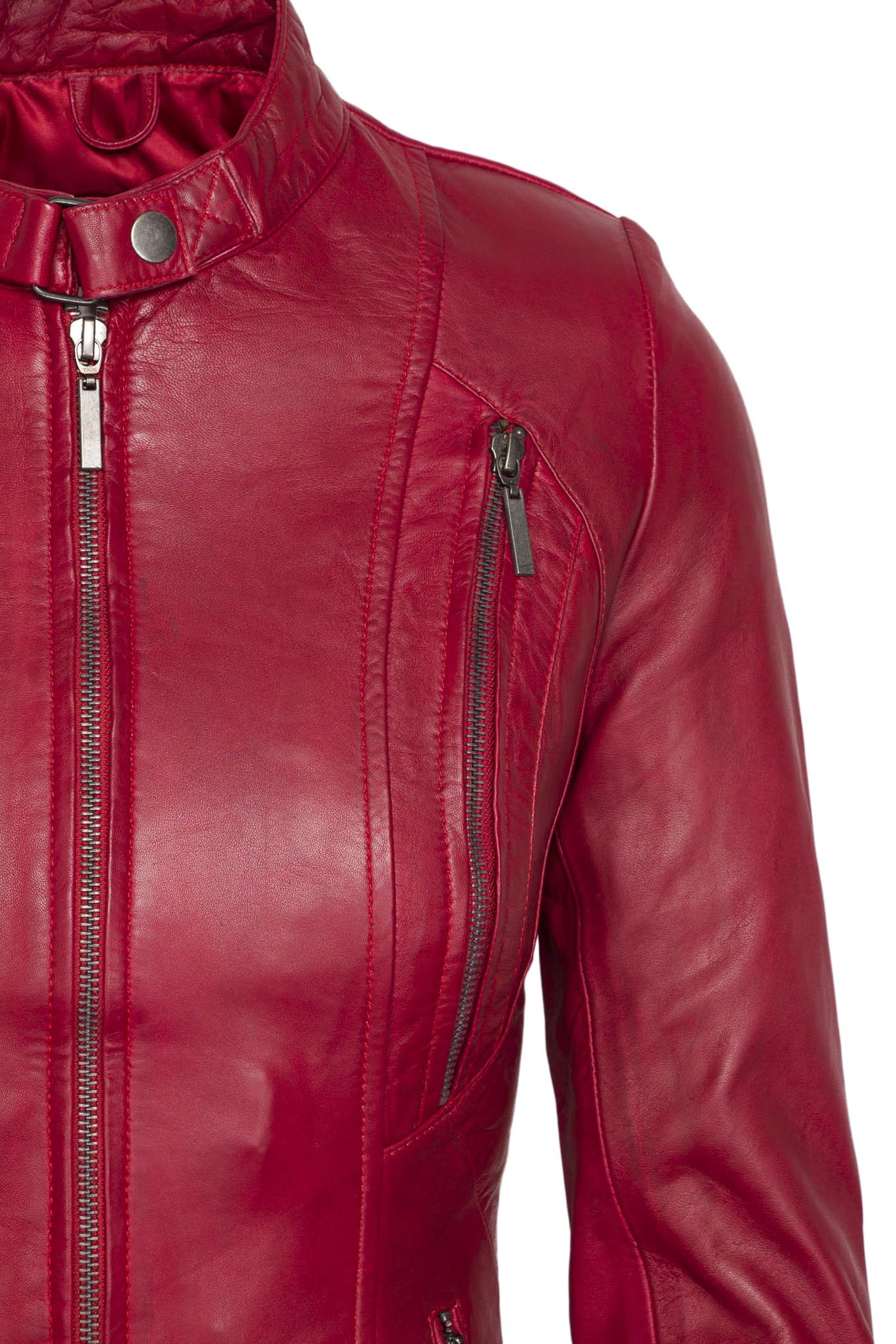 490 biker jack rood dames