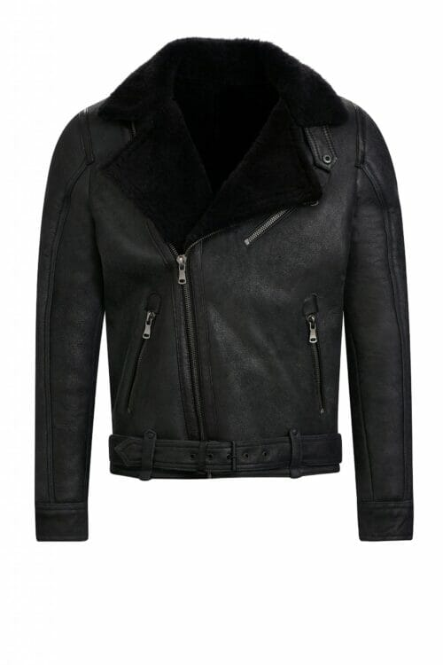 IVANO Lammy coat heren zwart shearling