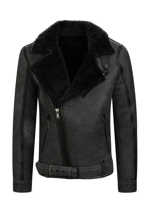 Lammy coat heren bruin shearling IVANO