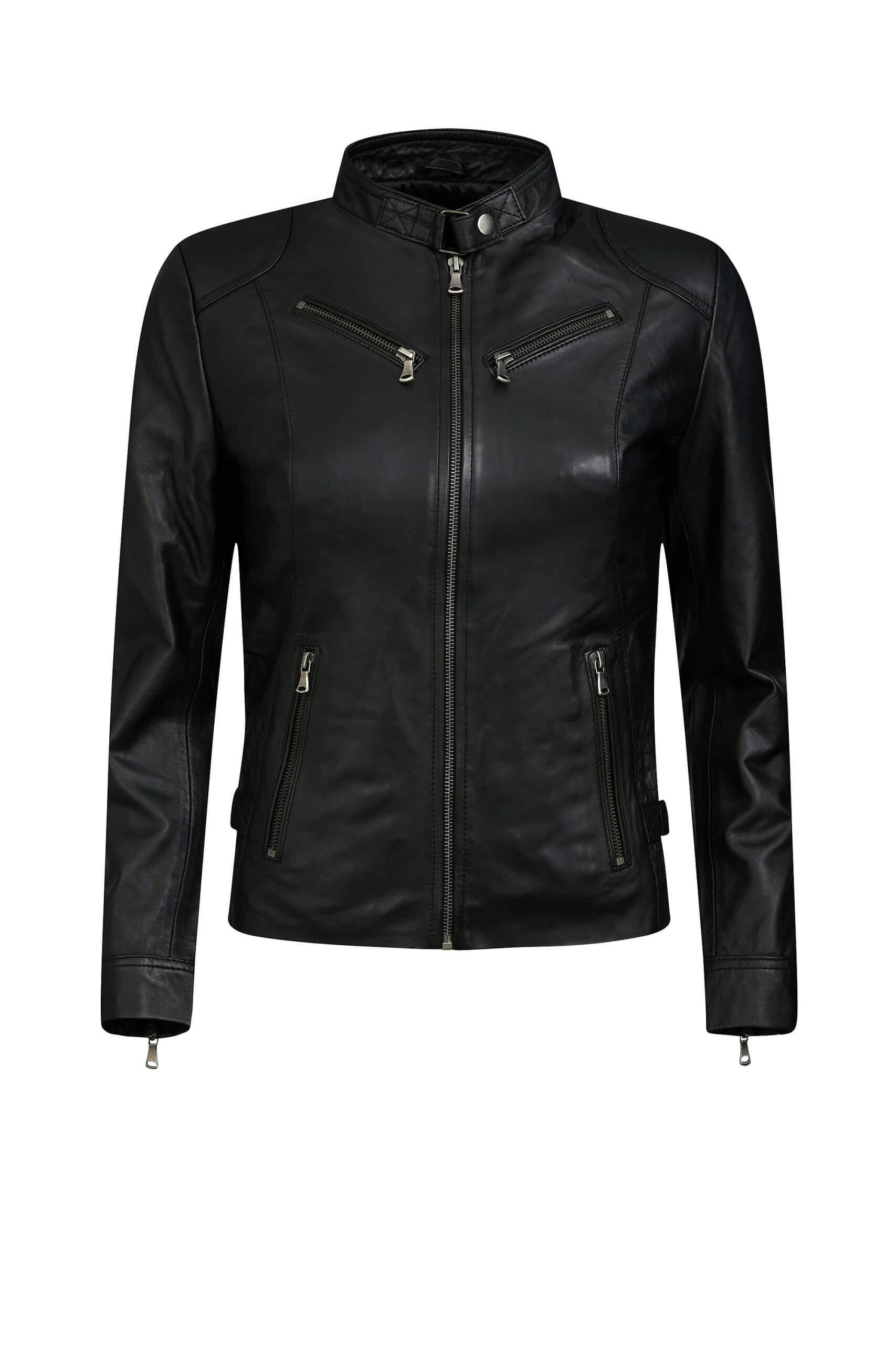 RBM-dames biker jasje zwart 446