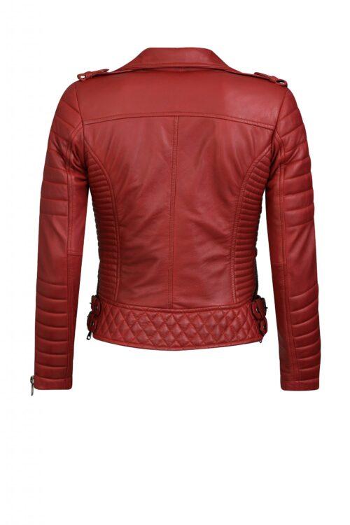DELORE Biker jack dames rood