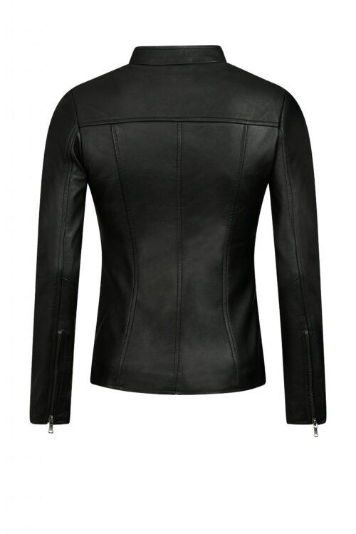 L104 biker jack zwart