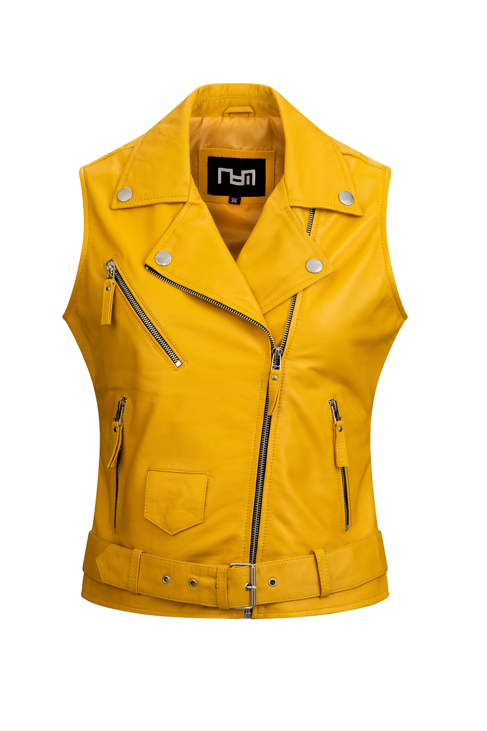 L165 bodywarmer dames geel