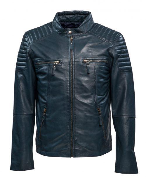 513 biker jack blauw heren