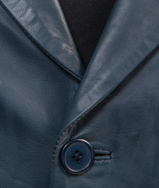Leren blazer- rbm 448-donkerblauw