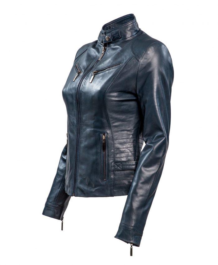 RBM-dames biker jasje blauw 446