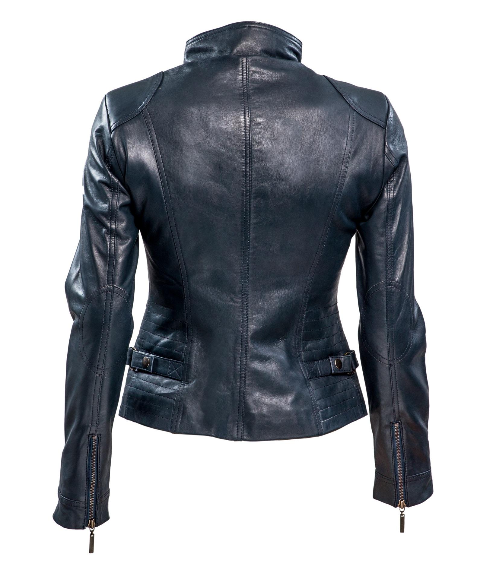 RBM-dames biker jasje blauw 446RBM-dames biker jasje blauw 446