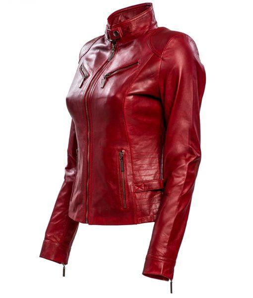RBM-dames biker jasje rood 446