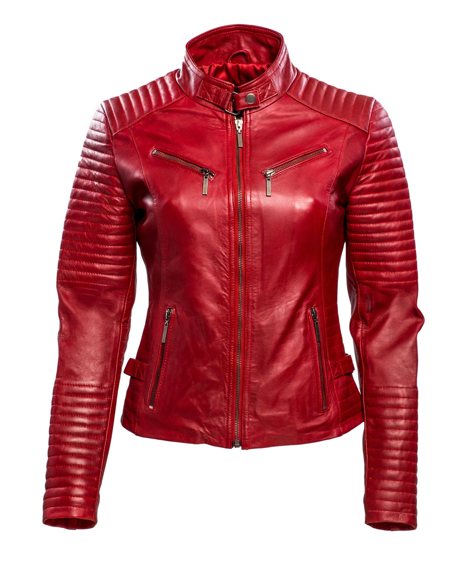 348 biker jack rood dames
