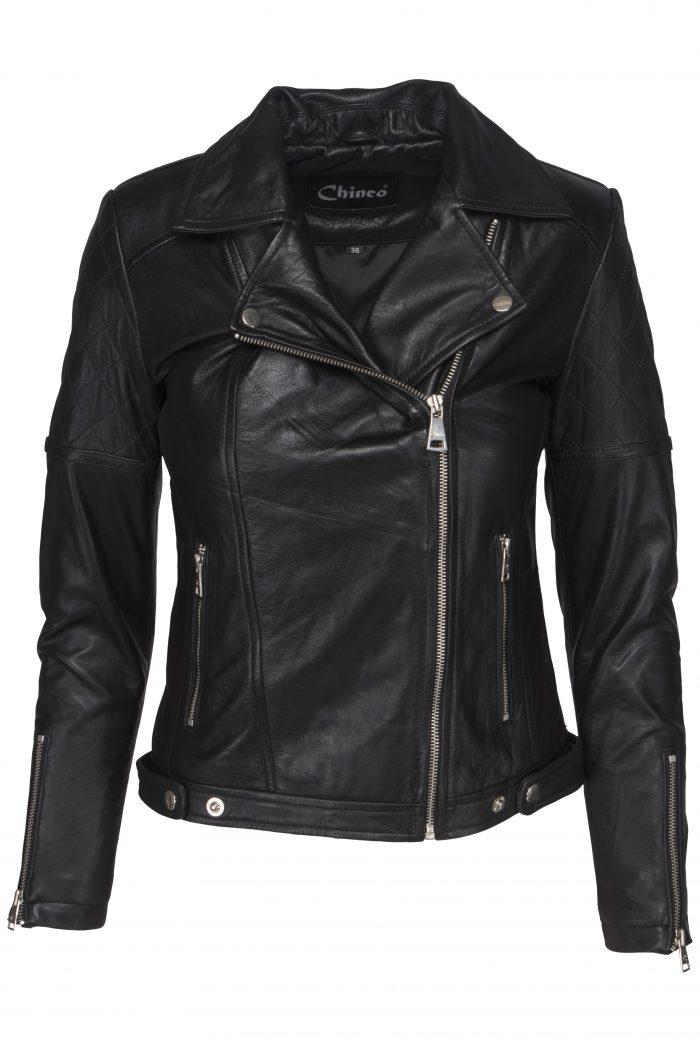 Chinco-dames motor jasje zwart Hera