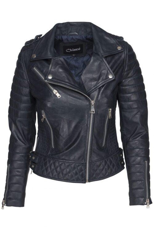 Chinco-dames biker jasje blauw Delore