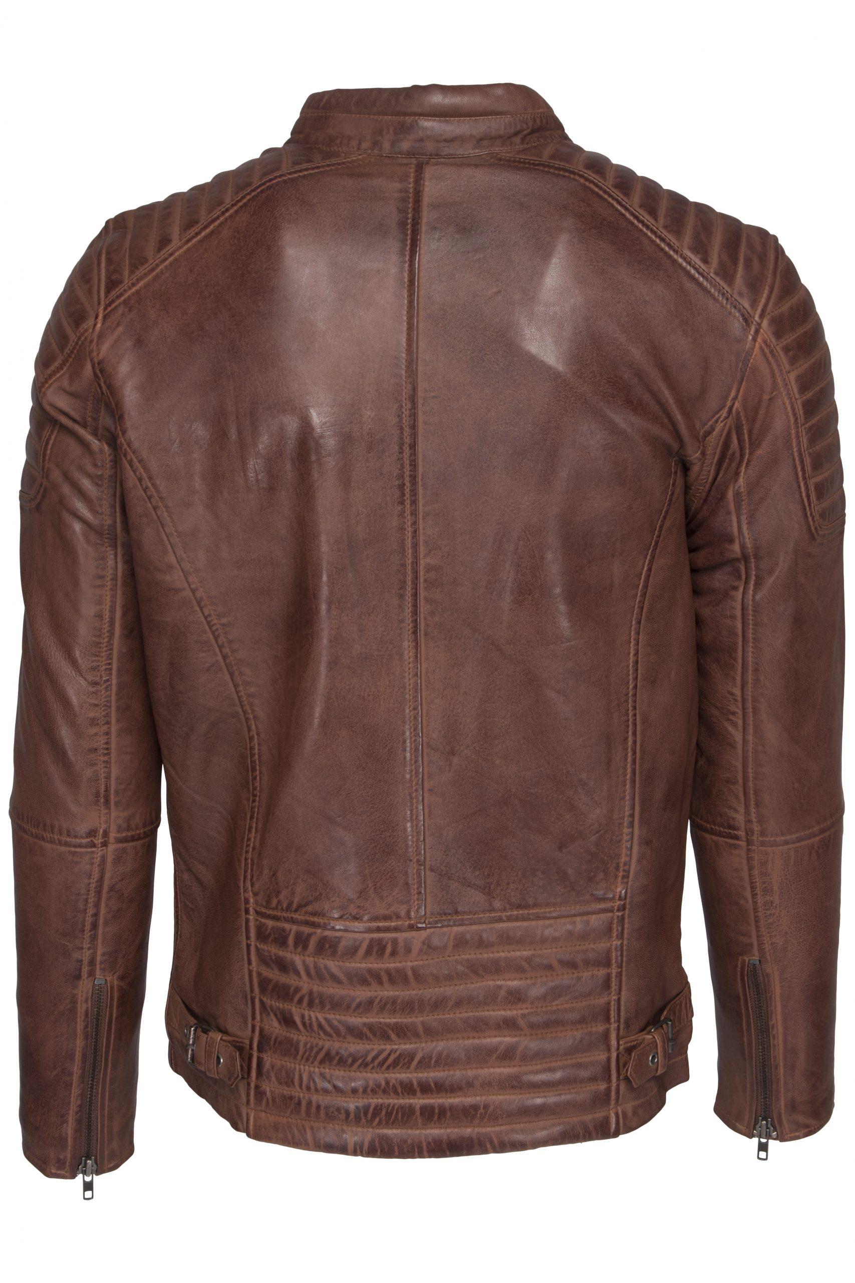 513 biker jack cognac heren