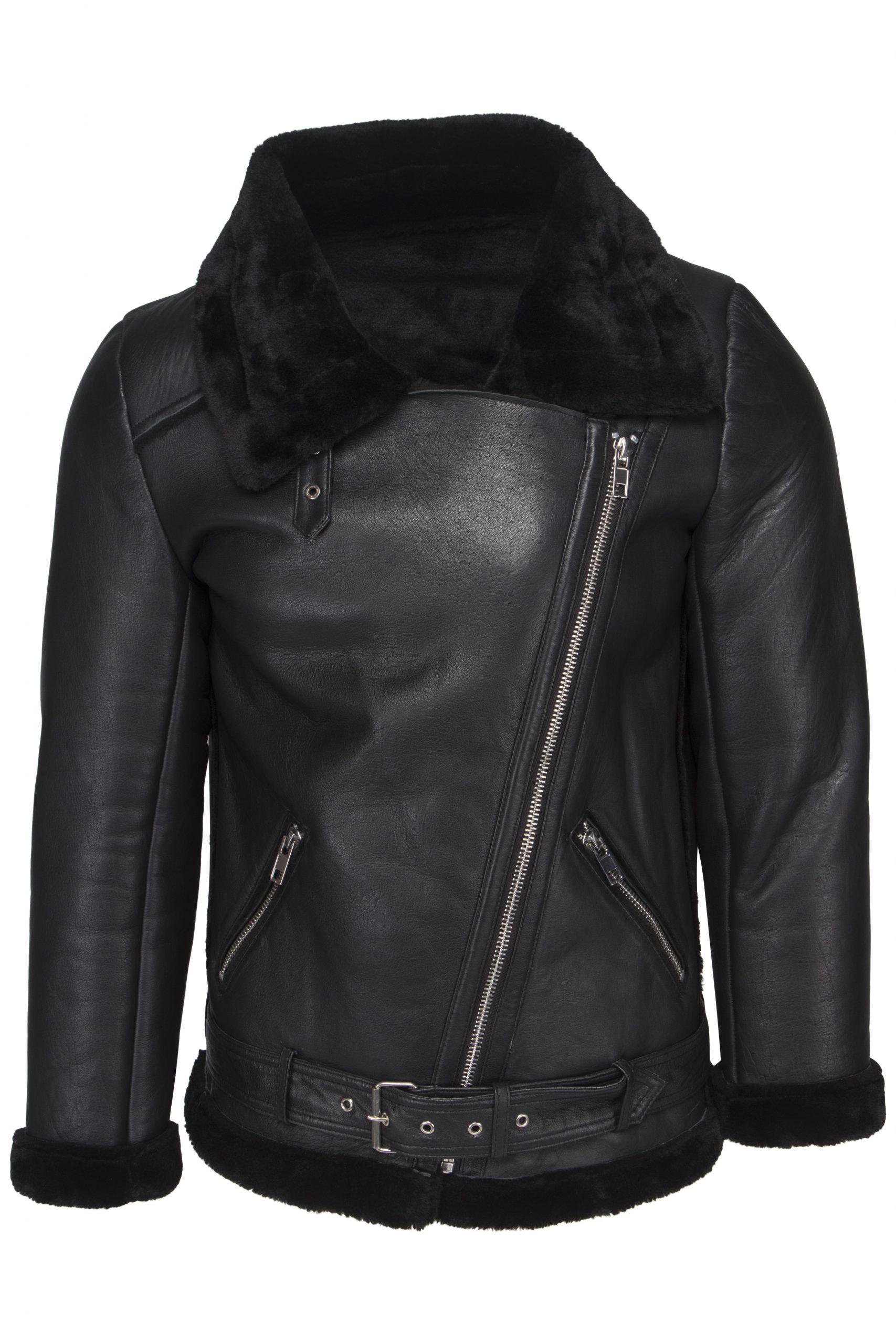 YVETTE lammy coat zwart