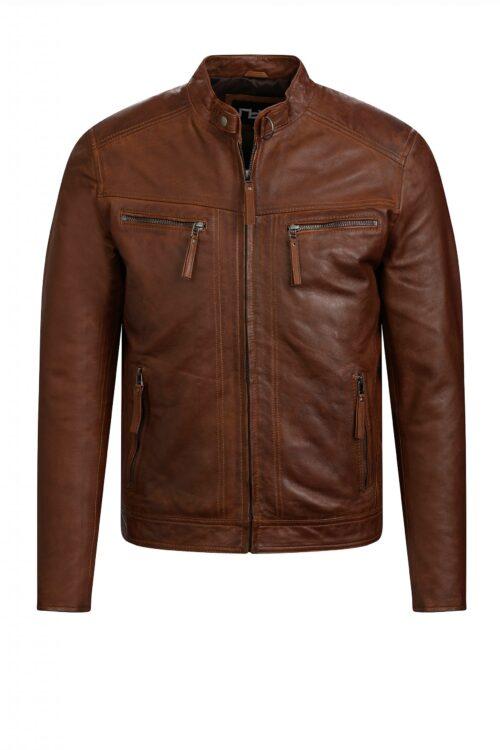 G108 biker jack cognac heren