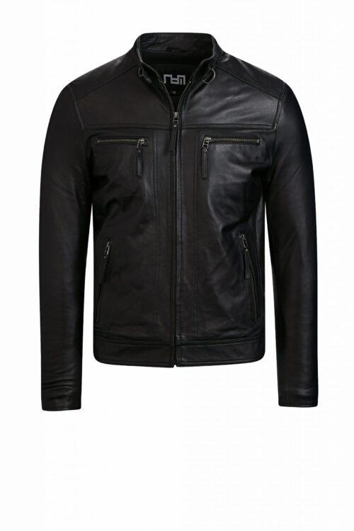 G108 biker jack zwart heren