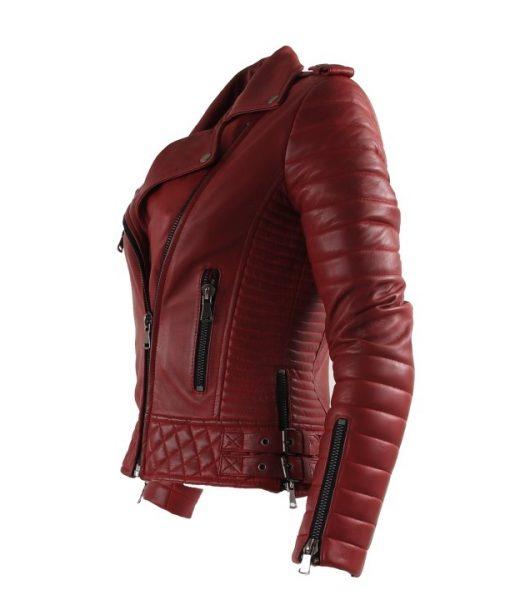 Chinco-dames biker jasje rood Delore